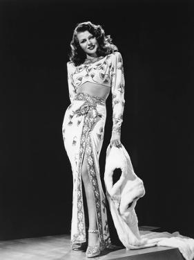 Gilda directed by Charles Vidor with Rita Hayworth 1946 (b/w photo)