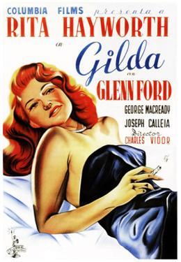 Gilda, Rita Hayworth, Spanish Poster Art, 1946
