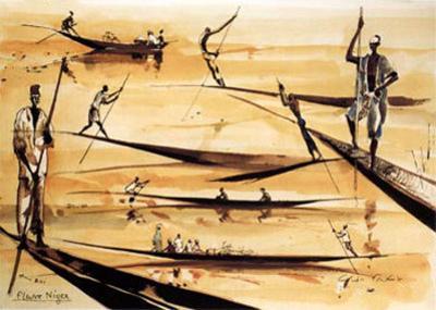 Pirogues du Niger
