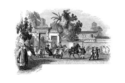 Appearance in Public of a Viceroy Attended by His Retinue, 1847