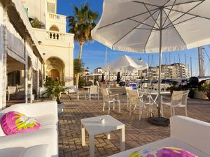 Bar at Queensway Quay Marina, Gibraltar, Mediterranean, Europe by Giles Bracher