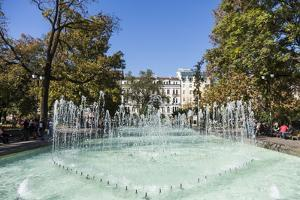 City Garden Park, Fountains, Sofia, Bulgaria, Europe by Giles Bracher