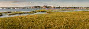 Distant View of Church at Bosham, Chichester Harbour at High Tide, West Sussex, England, UK, Europe by Giles Bracher