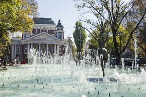 Ivan Vasov, National Theatre, City Garden Park, Sofia, Bulgaria, Europe by Giles Bracher