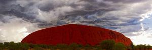 Light with Rain Storm, Uluru-Kata Tjuta Nat'l Park, UNESCO World Heritage Site, Australia by Giles Bracher