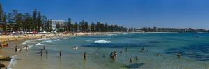 Panoramic of Surf Lifesaving Contest, Manly Beach, Sydney, New South Wales, Australia, Pacific by Giles Bracher