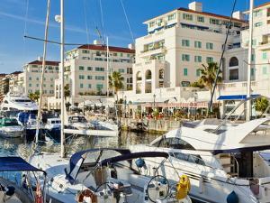 Queensway Quay Marina, Gibraltar, Mediterranean, Europe by Giles Bracher