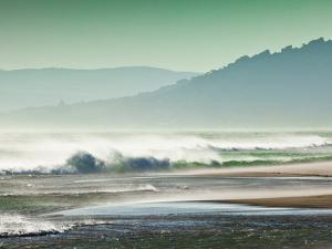 Storm Force Levante Winds Blowing Tops of Waves, Estrecho Natural Park, Los Lanses Beach, Spain by Giles Bracher