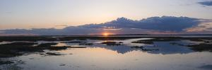 Sunset over Marshes of Chichester Harbour on a Very Still Evening, West Sussex, England, UK, Europe by Giles Bracher