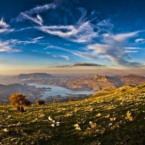 Twin Peaks, Tagus Algarin and Sima de Las Grajas by Reservoir Zahara-El Gastor, Andalucia, Spain by Giles Bracher