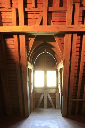 Château de Fougères-sur-Bièvre, combles, structure bois d'une lucarne by Gilles Codina