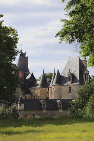 Château de Fougères-sur-Bièvre, ensemble nord est vu de la demeure de la Boulas by Gilles Codina