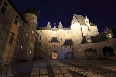Château de Fougères-sur-Bièvre, vue panoramique de la cour d'honneur by Gilles Codina