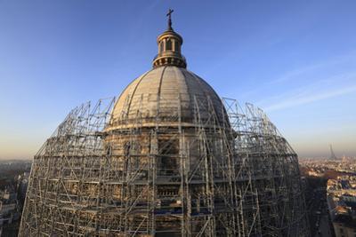 Panthéon, vue du dôme pendant les travaux de restauration by Gilles Codina