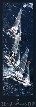 Fleet to the Mark, 32nd America's Cup by Gilles Martin-Raget