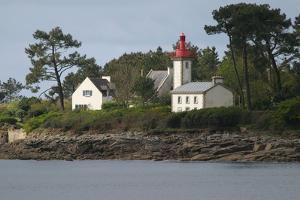 Lighthouse in Brittany, near Benodet. 2009 by Gilles Targat