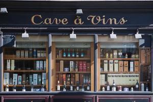 Rue Racine, cave a vin, Paris (6th arrondissement). May 20, 2015 by Gilles Targat