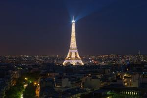 The Eiffel Tower, Paris. Panorama. August 14, 2013 by Gilles Targat