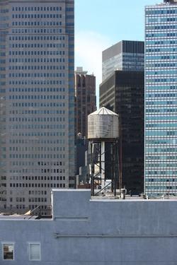 Water storage tank, New York City, USA. financial district, Manhattan. September 16, 2012 by Gilles Targat