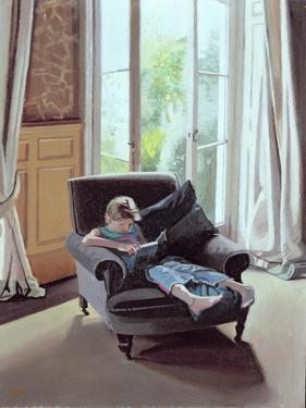 Saturday Afternoon: Tallulah Reading, 2006 by Gillian Furlong