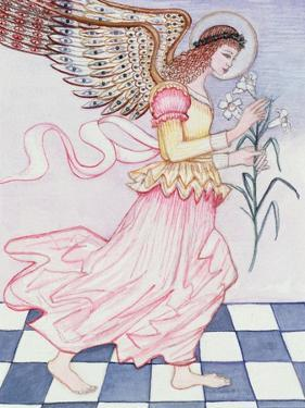 Angel with Tiger Lily, 1995 by Gillian Lawson