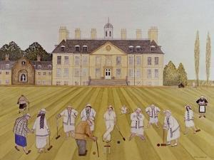 Croquet on the Lawn, 1989 by Gillian Lawson