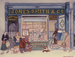Jones Smith & Co., Butcher's Shop by Gillian Lawson