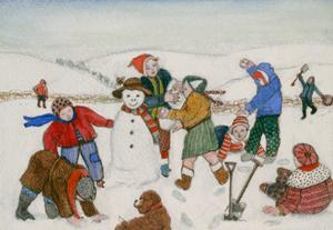 Playing in the Snow by Gillian Lawson