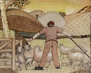Shepherd, 1985 by Gillian Lawson