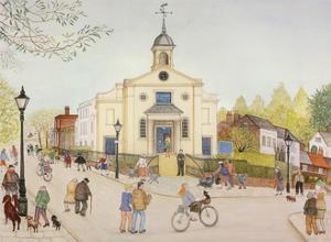 St John's, Downshire Hill, Hampstead, 2002 by Gillian Lawson