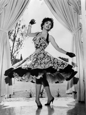 Gina Lollobrigida at Her Villa Near Rome, Italy, 1956