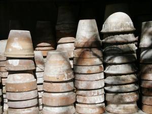 Stacked Clay Pots, Parma, Italy by Gina Martin