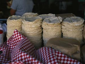Tortillas Sold at an Outdoor Stand by Gina Martin