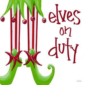 Elves on Duty Square by Gina Ritter