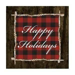 Happy Holidays on Plaid by Gina Ritter