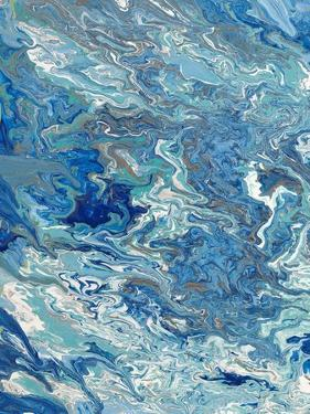 Marbleized Beach View I by Gina Ritter