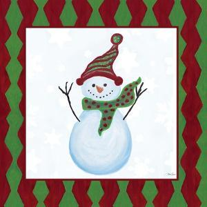 Snowman Zig Zag Square I by Gina Ritter