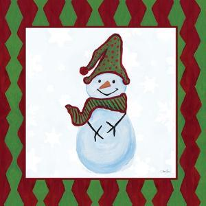 Snowman Zig Zag Square III by Gina Ritter