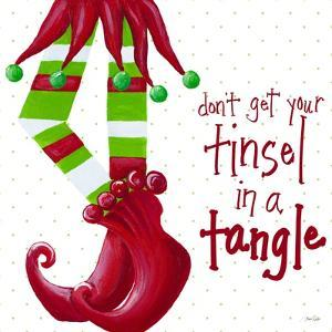 Tinsel In A Tangle on Dots by Gina Ritter