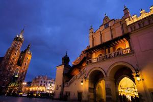The City of Krakow in Poland. Marketplace with (Left to Right) St. Mary's Cathedral, Tuchlauben, by ginasanders