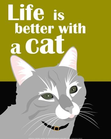 Life is Better with a Cat by Ginger Oliphant