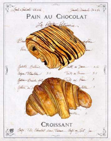 Pain au Chocolat et Croissant by Ginny Joyner