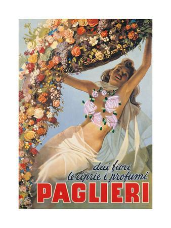 Advertising poster for Paglieri Perfume