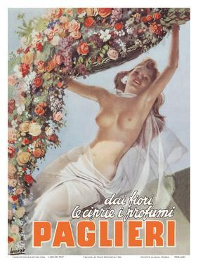 From the Flowers come the Powders and Scents of Paglieri - Authentic Essence Perfume by Gino Boccasile