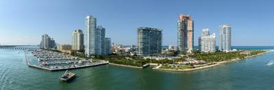 Aerial Panoramic View of South Miami Beach during Sunny Day - Stitched from 5 Images by Gino Santa Maria