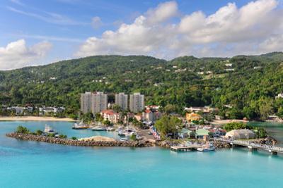 Aerial View of Ocho Rios, Jamaica in the Caribbean by Gino Santa Maria