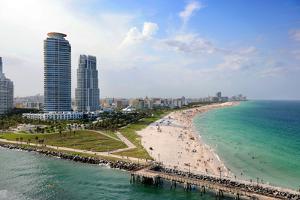 Aerial View of South Miami Beach by Gino Santa Maria