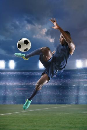 African American Soccer Player by Gino Santa Maria