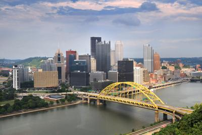 Pittsburgh Skyline during Late Afternoon by Gino Santa Maria