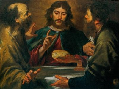 Gioacchino Assereto, The Supper in Emmaus, 17th c. Private collection